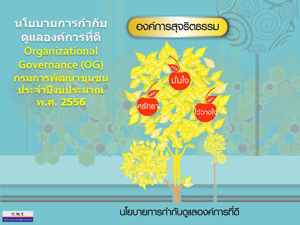 นโยบายการกำกับดูแลองค์การที่ดี Organizational Governance (OG)