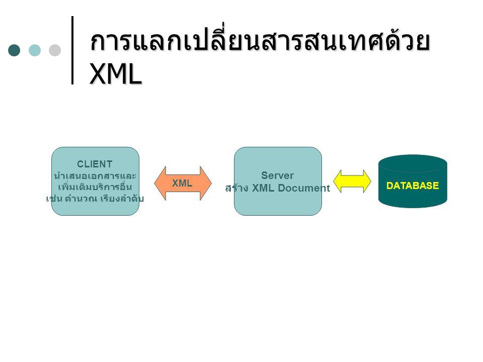 การแลกเปลี่ยนสารสนเทศด้วย XML