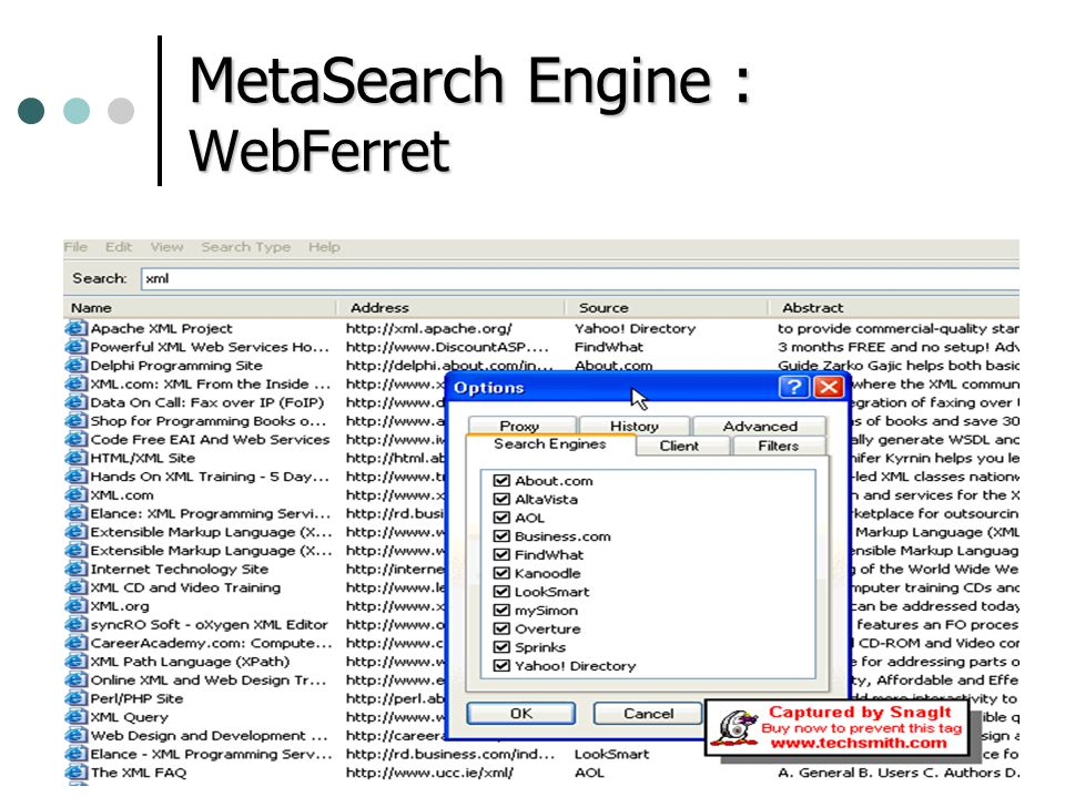 MetaSearch Engine : WebFerret