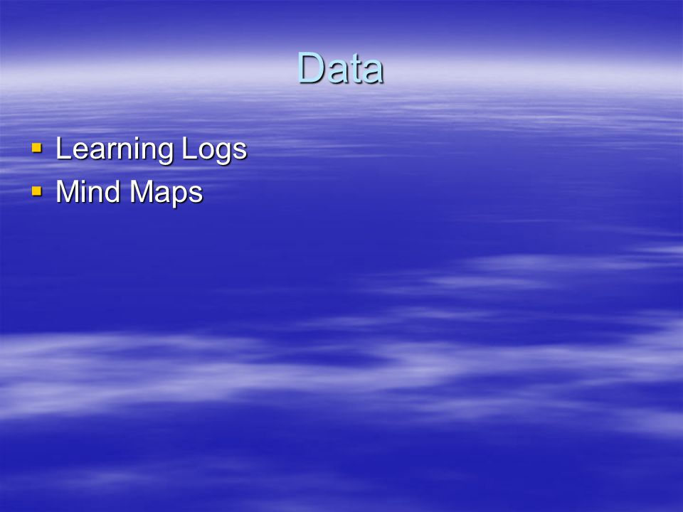 Data Learning Logs Mind Maps