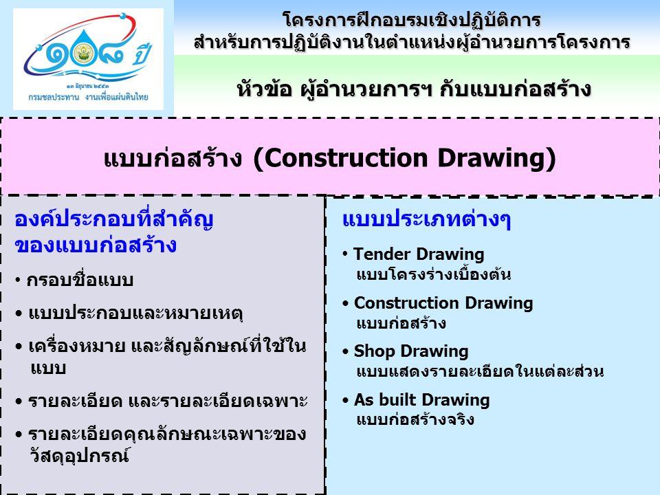 แบบก่อสร้าง (Construction Drawing)