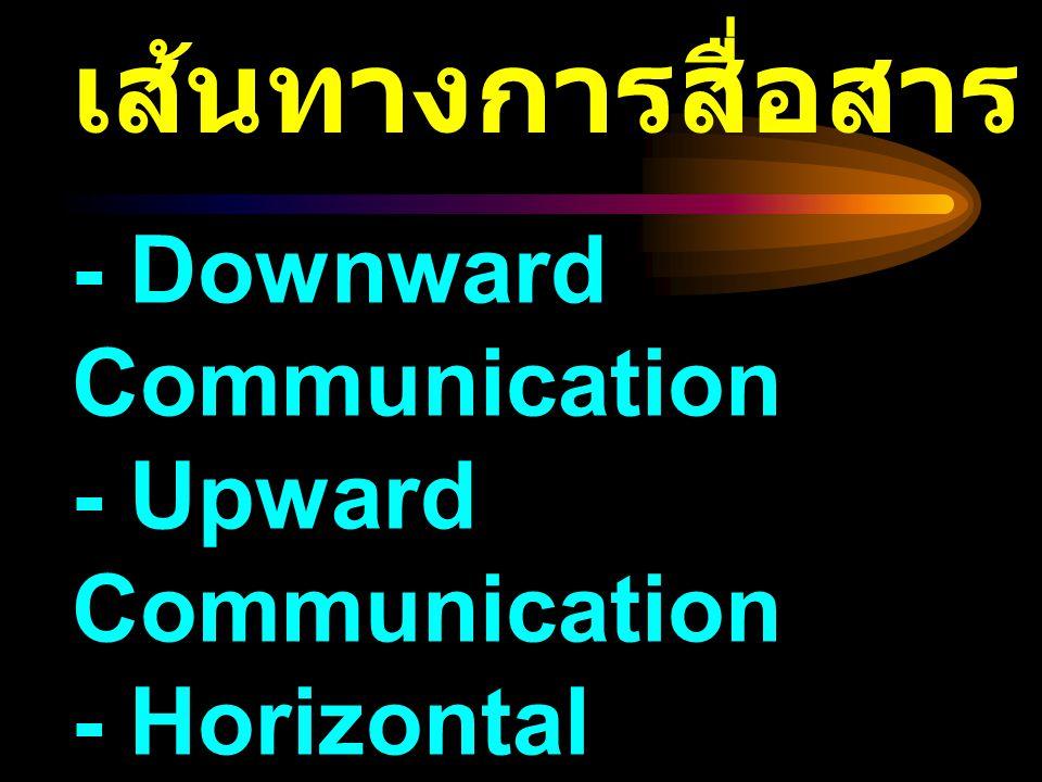 เส้นทางการสื่อสาร - Downward Communication - Upward Communication