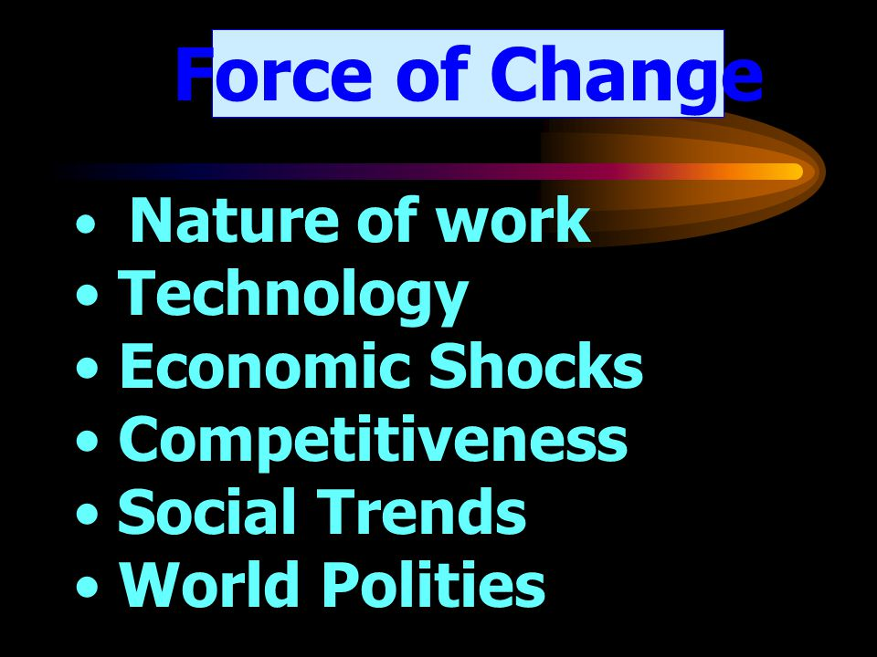 Force of Change Technology Economic Shocks Competitiveness