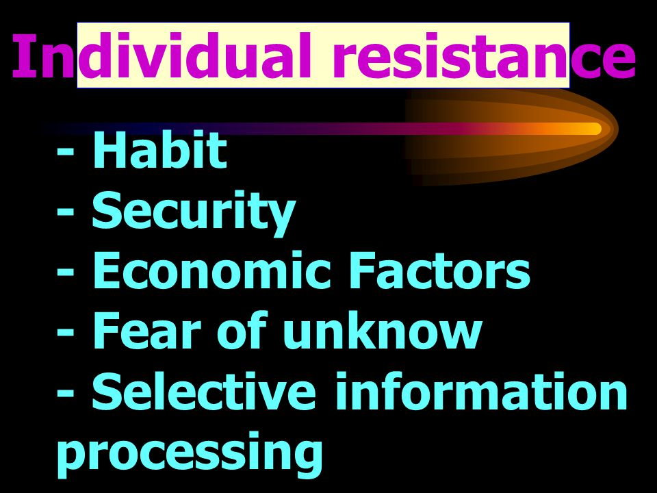 Individual resistance