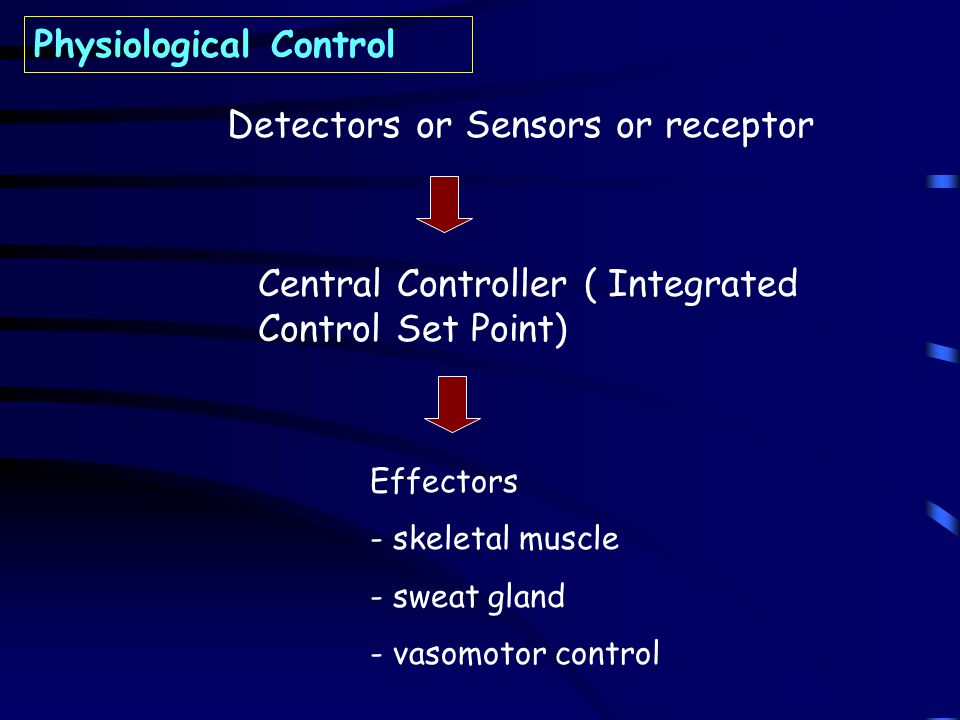 Detectors or Sensors or receptor