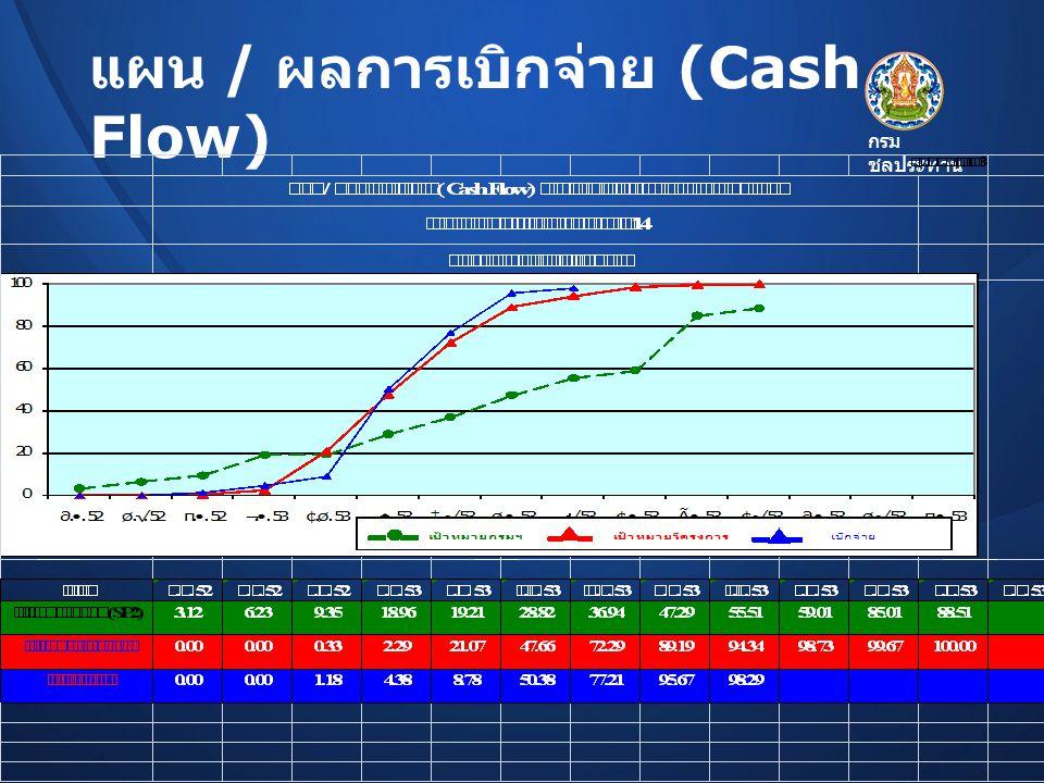 แผน / ผลการเบิกจ่าย (Cash Flow)