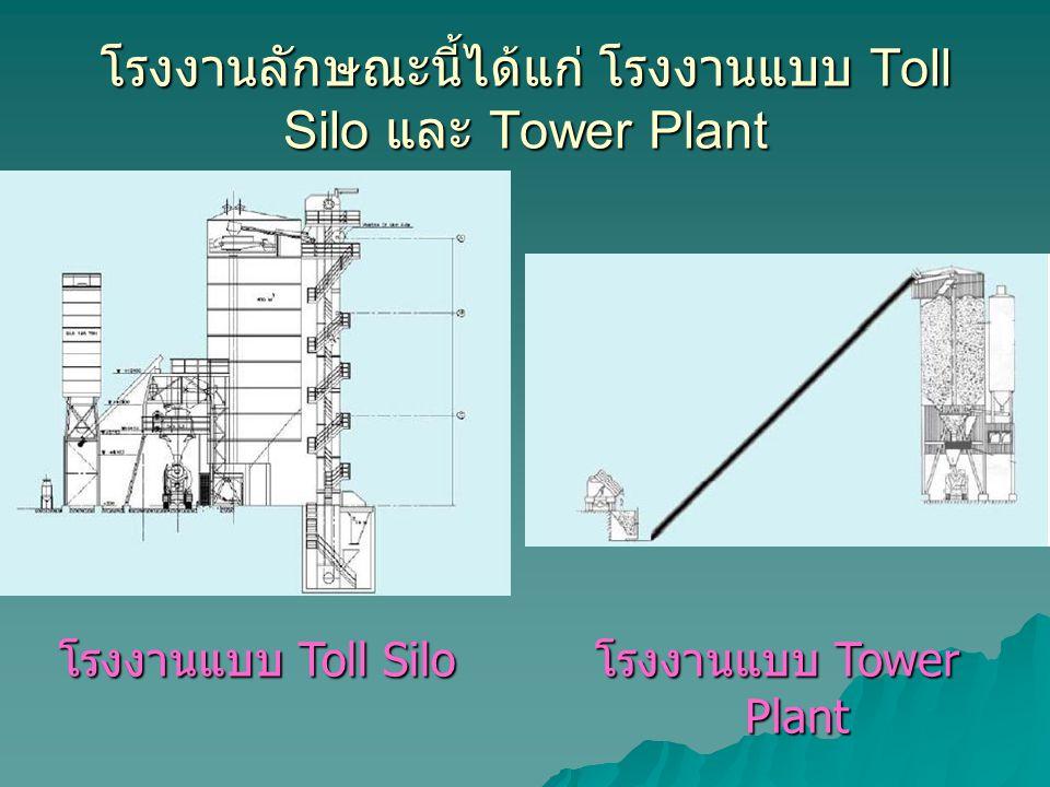 โรงงานลักษณะนี้ได้แก่ โรงงานแบบ Toll Silo และ Tower Plant