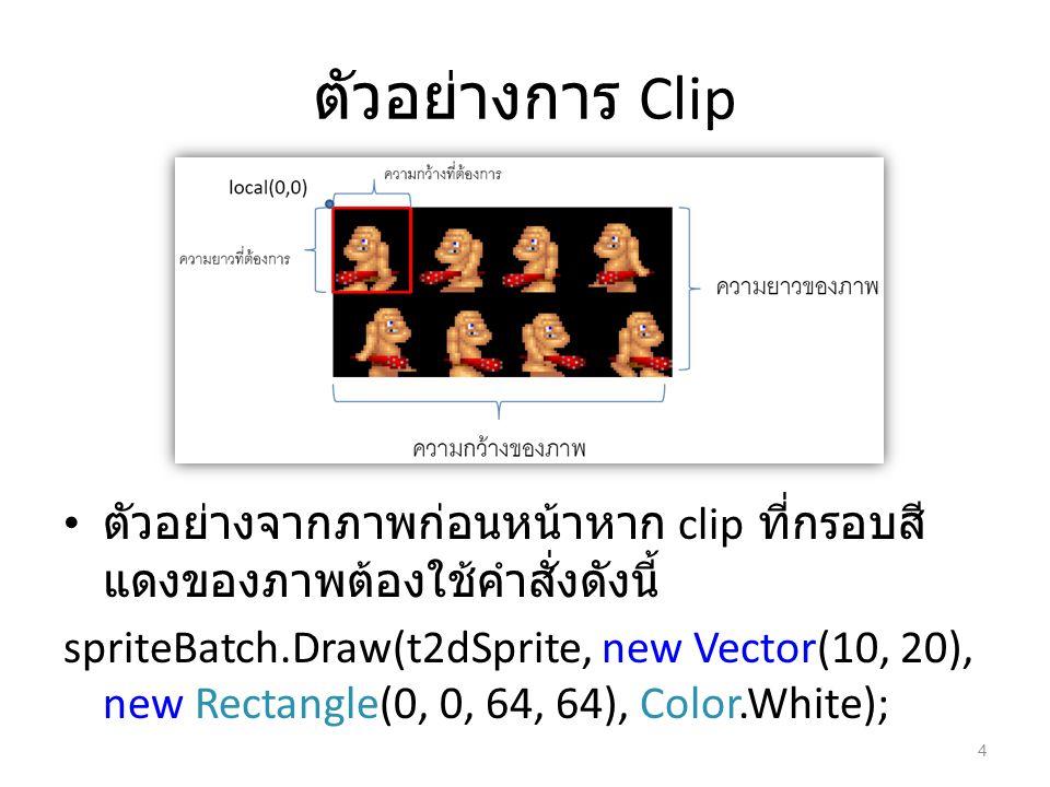 ตัวอย่างการ Clip ตัวอย่างจากภาพก่อนหน้าหาก clip ที่กรอบสีแดงของภาพต้องใช้คำสั่งดังนี้