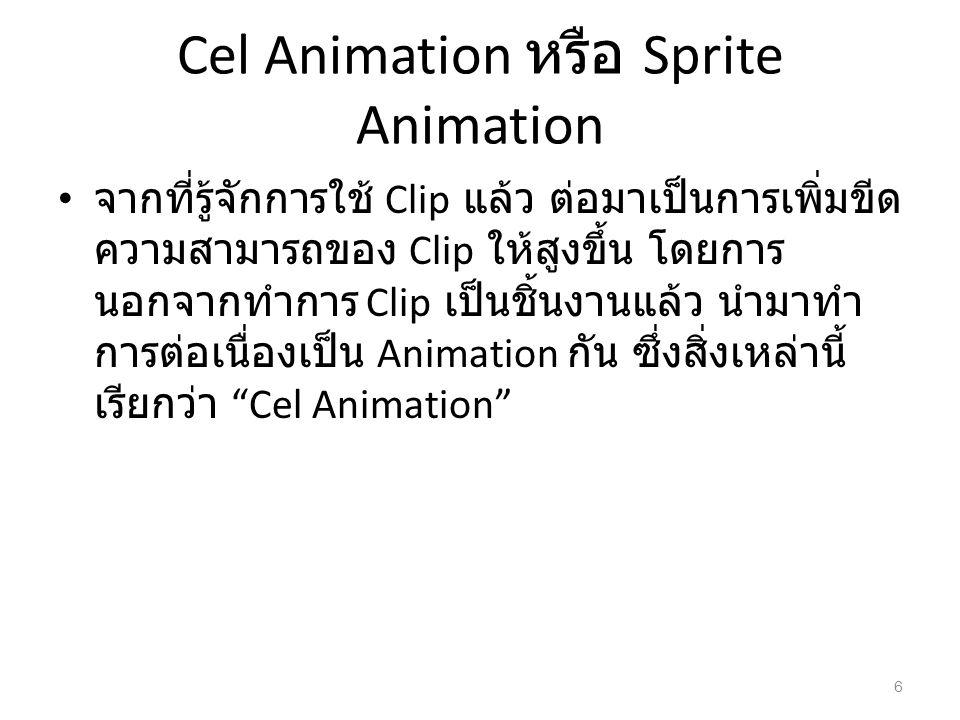 Cel Animation หรือ Sprite Animation
