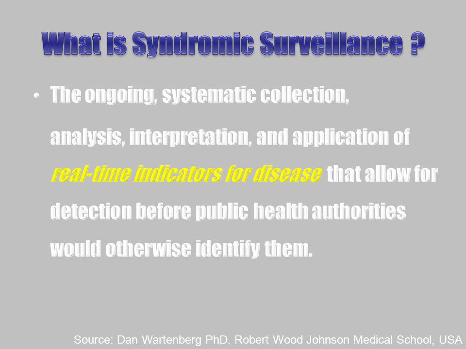 What is Syndromic Surveillance