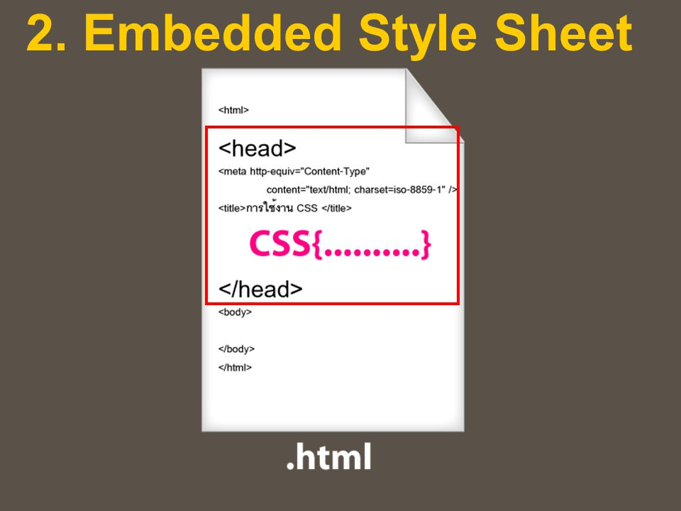 2. Embedded Style Sheet