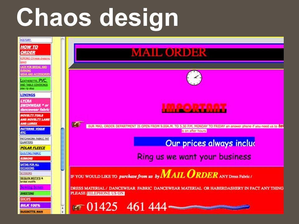 Chaos design