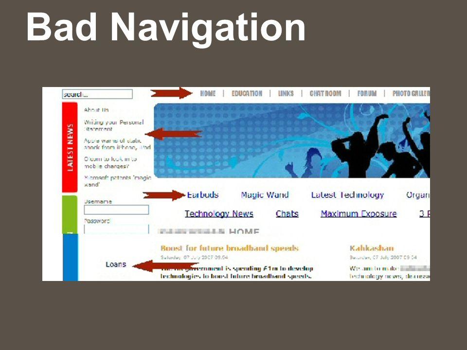 Bad Navigation