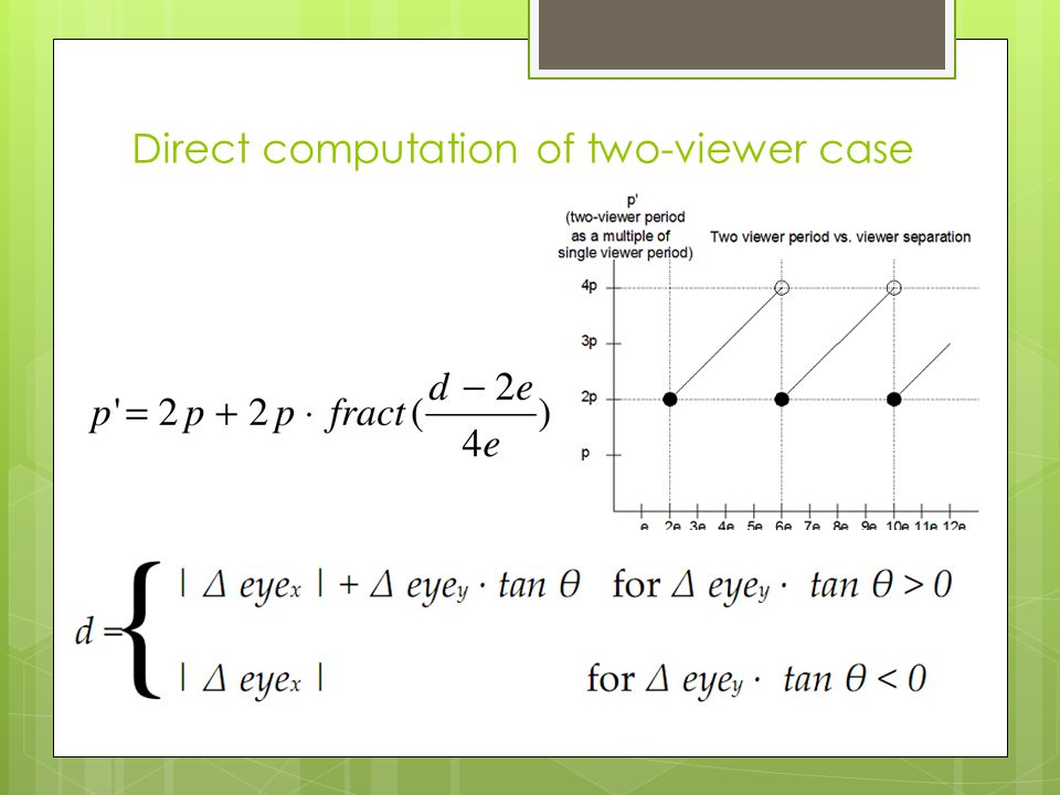 Direct computation of two-viewer case