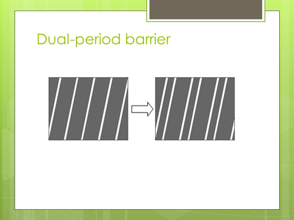 Dual-period barrier Figure 10. Changing the barrier pattern from a single period to a dual.