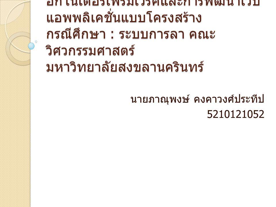 นายภาณุพงษ์ คงคาวงศ์ประทีป 5210121052