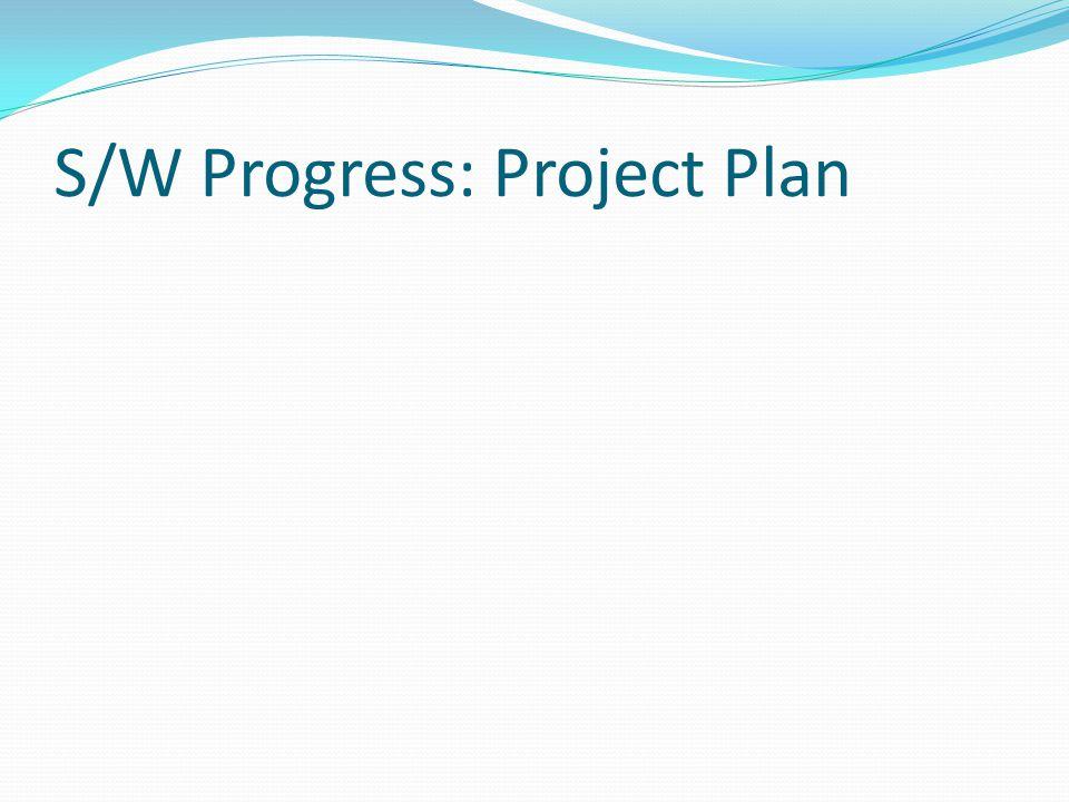 S/W Progress: Project Plan