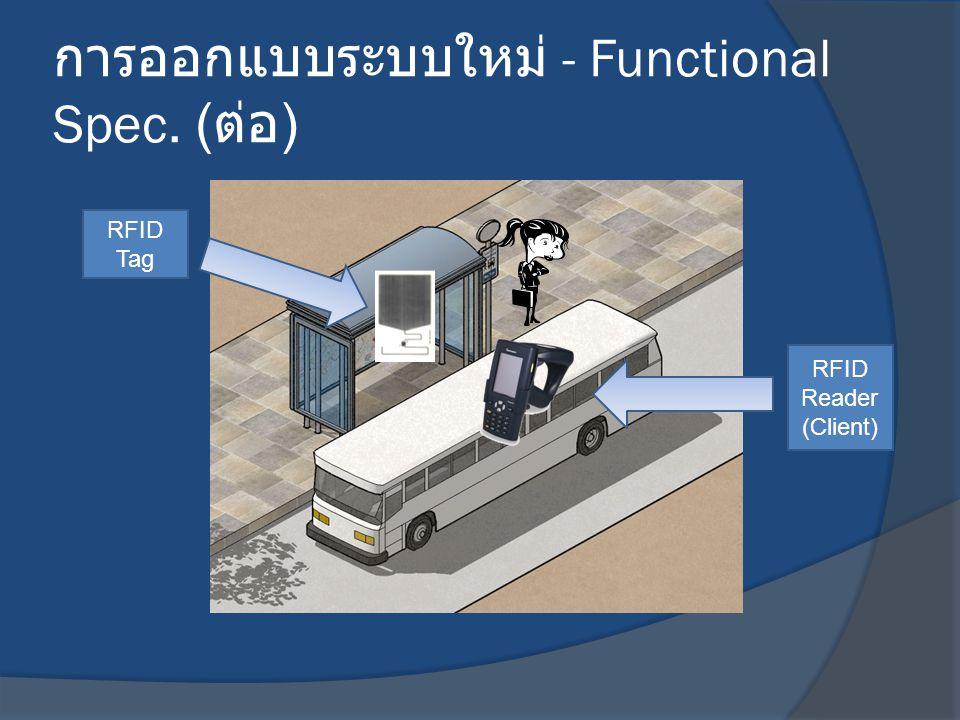 การออกแบบระบบใหม่ - Functional Spec. (ต่อ)