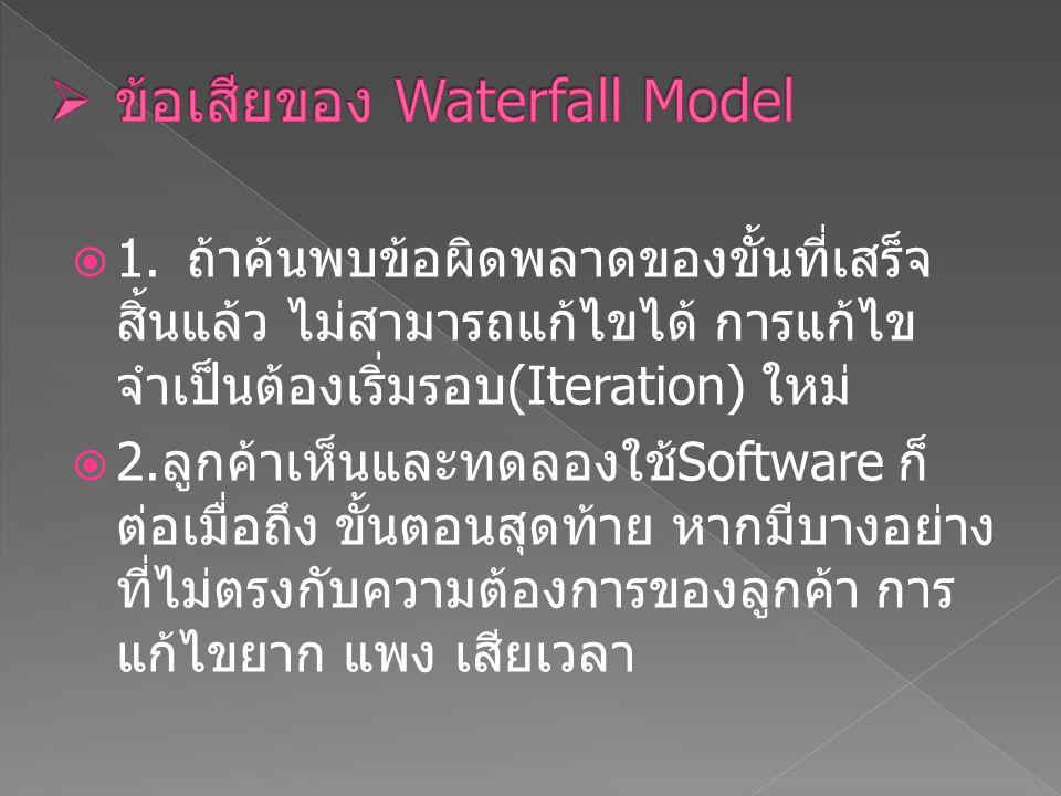 ข้อเสียของ Waterfall Model