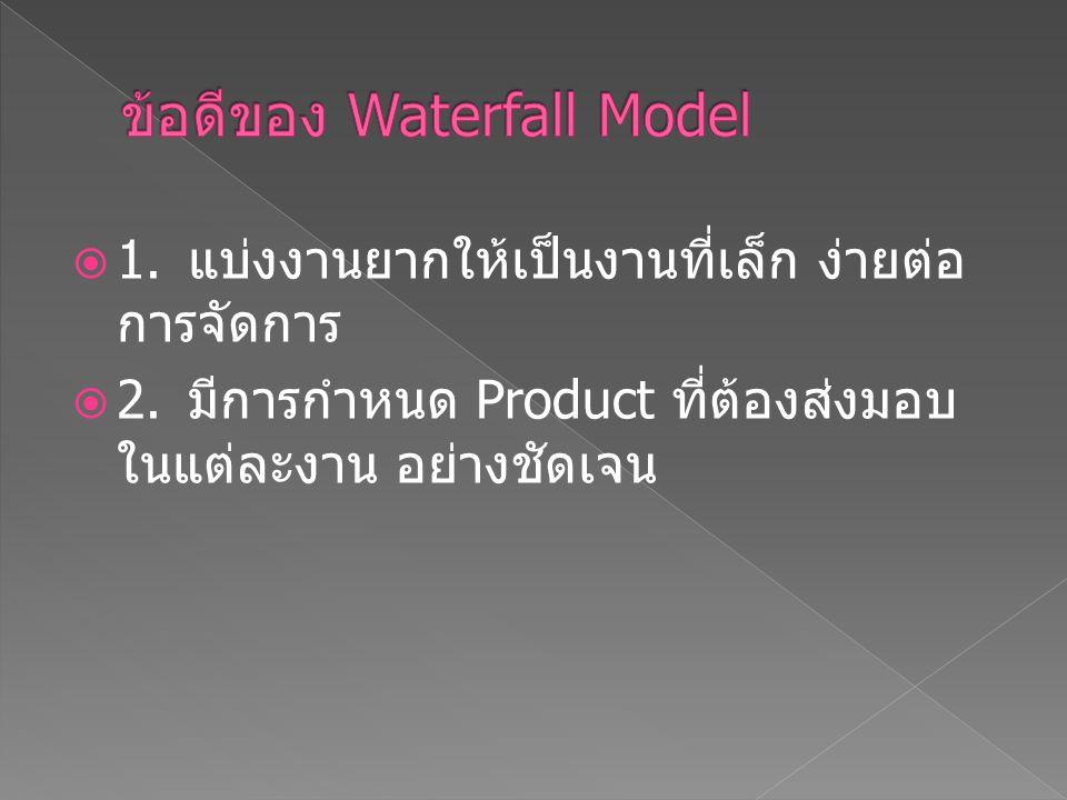 ข้อดีของ Waterfall Model
