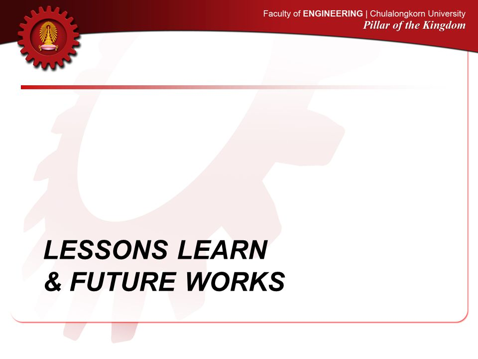 Lessons learn & Future works