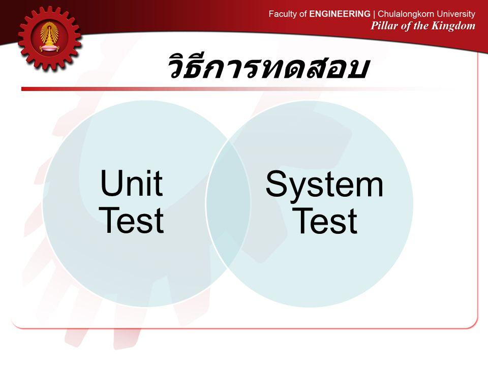 วิธีการทดสอบ Unit Test System Test