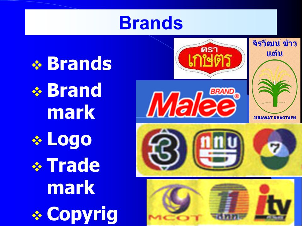Brands Brands Brand mark Logo Trade mark Copyright Patent