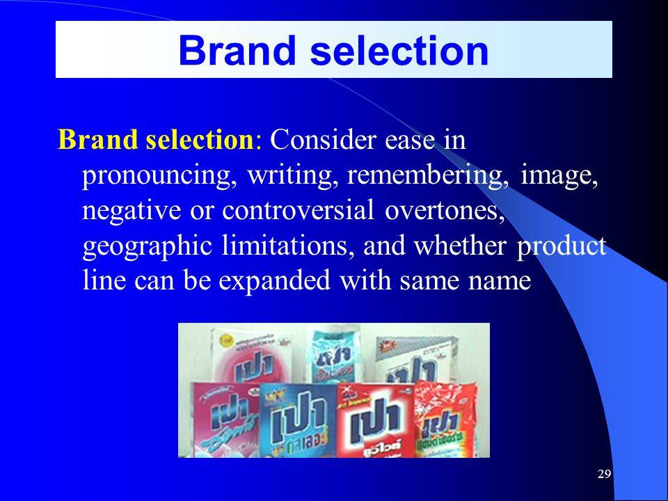 Brand selection