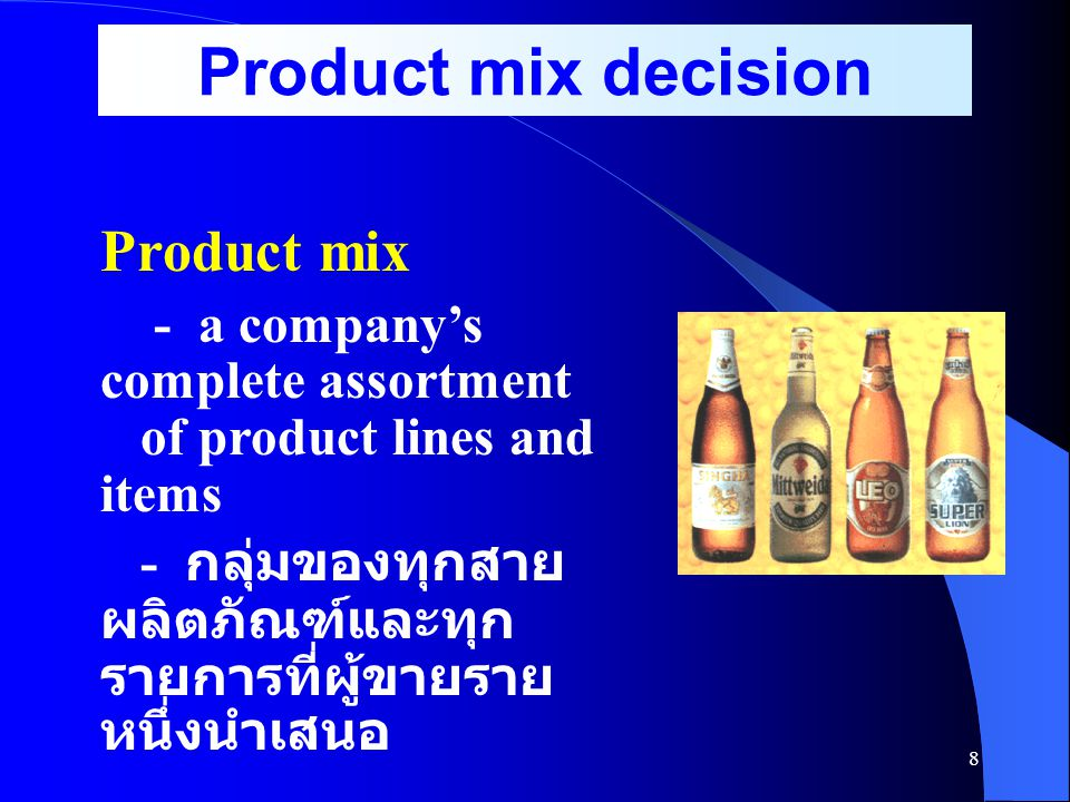 Product mix decision Product mix