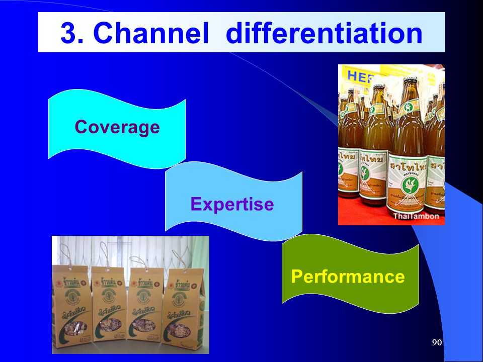 3. Channel differentiation