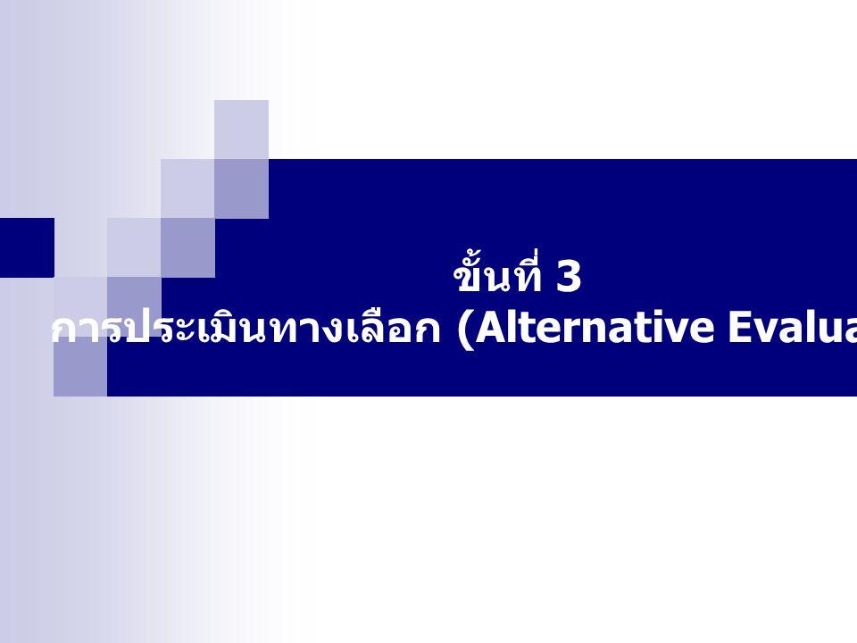 การประเมินทางเลือก (Alternative Evaluation)