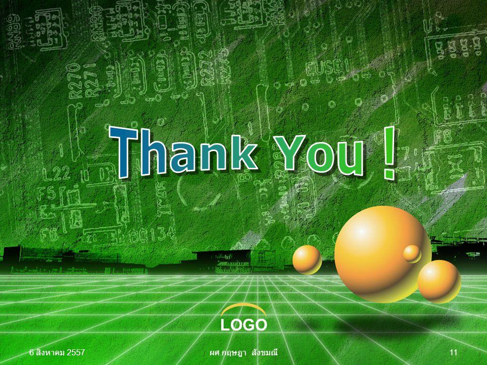 Thank You ! 4 เมษายน 2560 ผศ.กฤษฎา สังขมณี