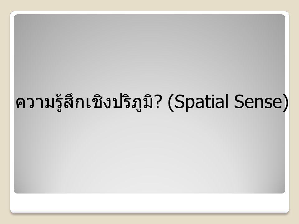 ความรู้สึกเชิงปริภูมิ (Spatial Sense)