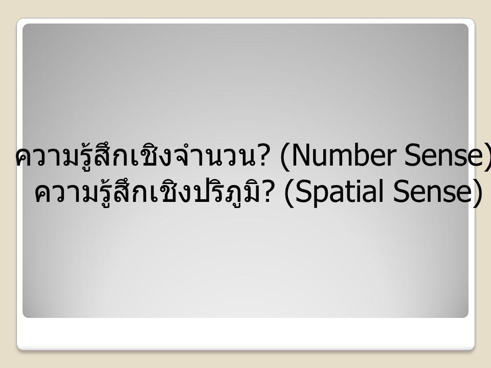 ความรู้สึกเชิงจำนวน (Number Sense)