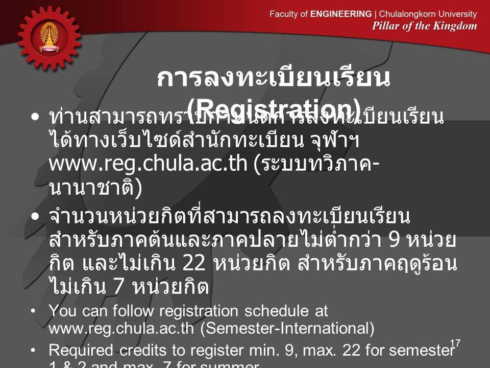 การลงทะเบียนเรียน (Registration)