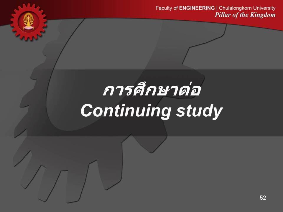 การศึกษาต่อ Continuing study