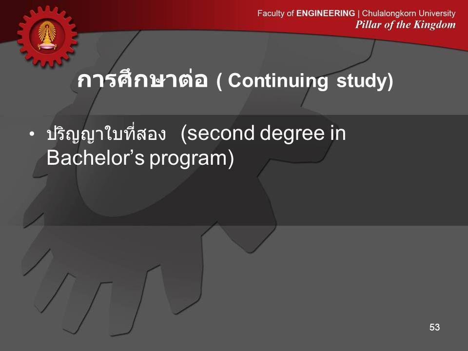 การศึกษาต่อ ( Continuing study)