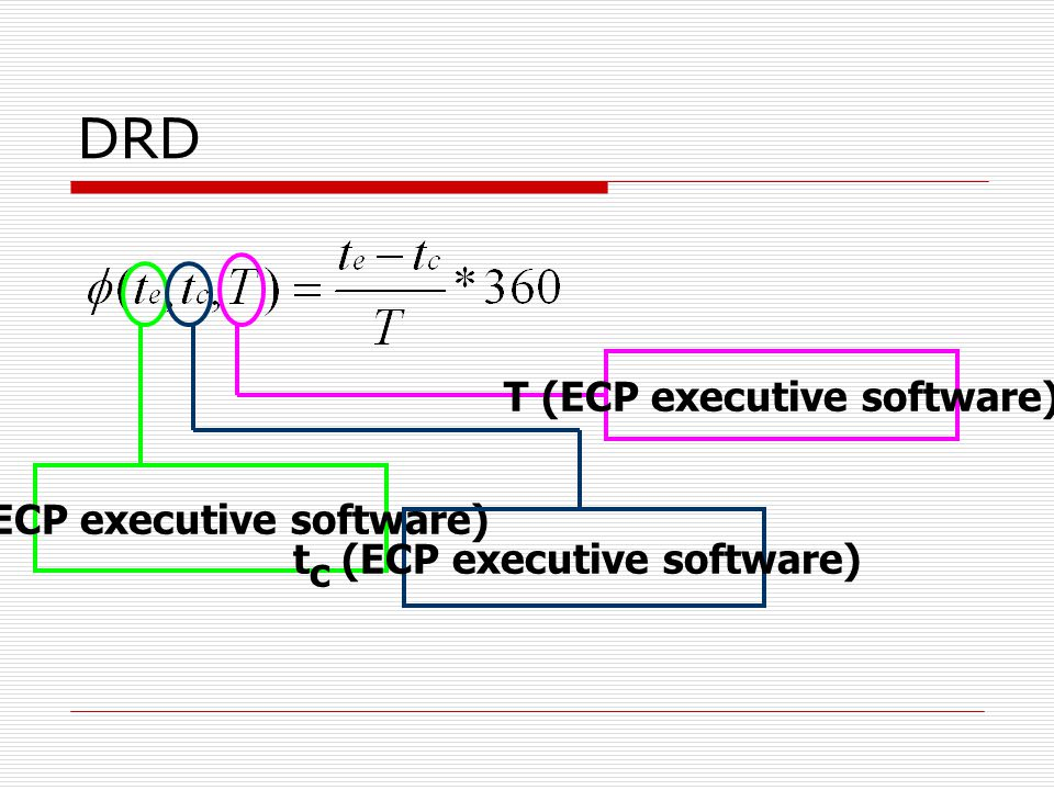 DRD T (ECP executive software) te (ECP executive software)