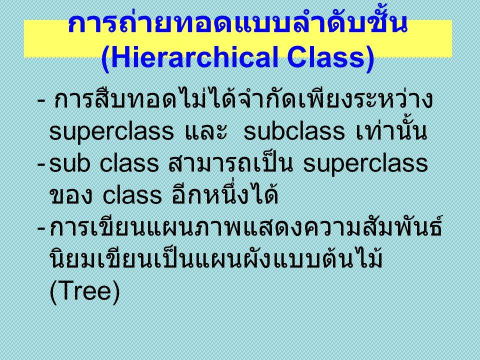 การถ่ายทอดแบบลำดับชั้น (Hierarchical Class)
