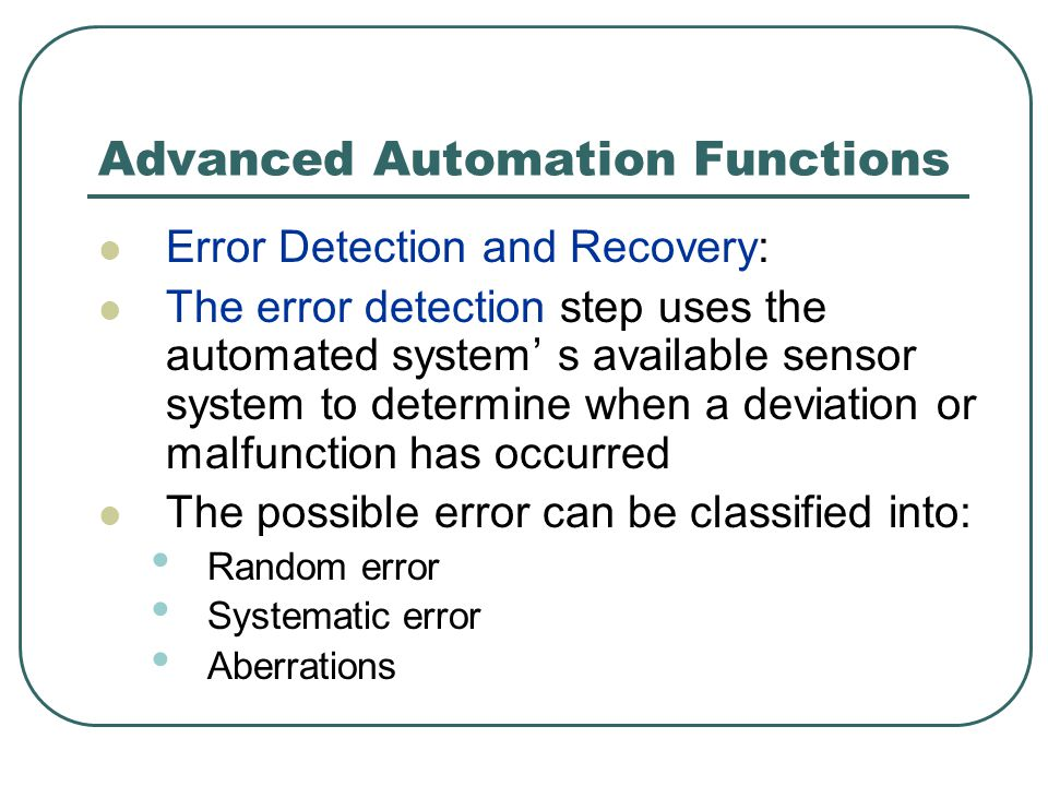 Advanced Automation Functions