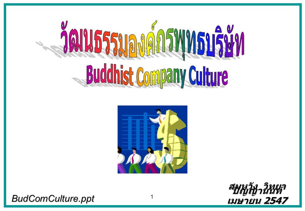 วัฒนธรรมองค์กรพุทธบริษัท Buddhist Company Culture