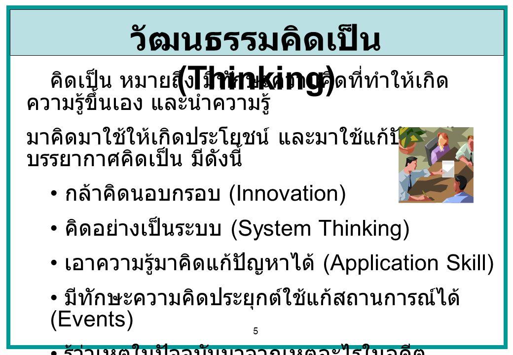 วัฒนธรรมคิดเป็น (Thinking)