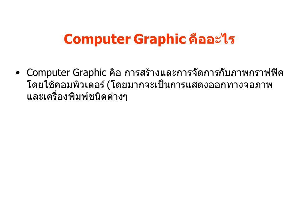 Computer Graphic คืออะไร