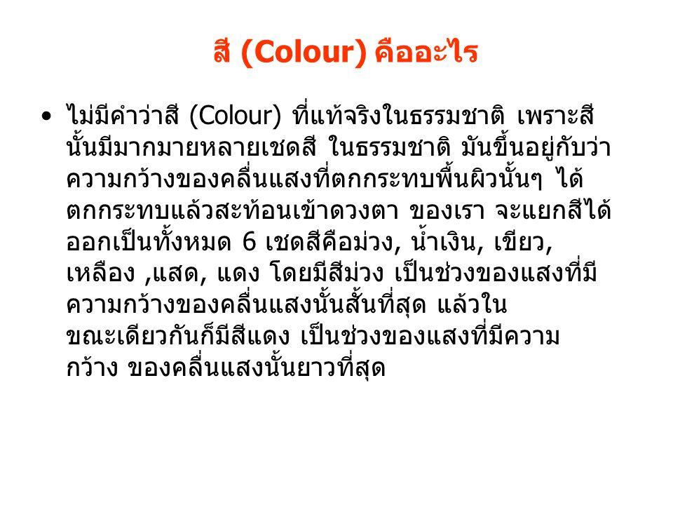 สี (Colour) คืออะไร
