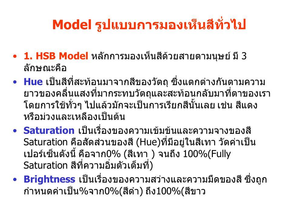Model รูปแบบการมองเห็นสีทั่วไป