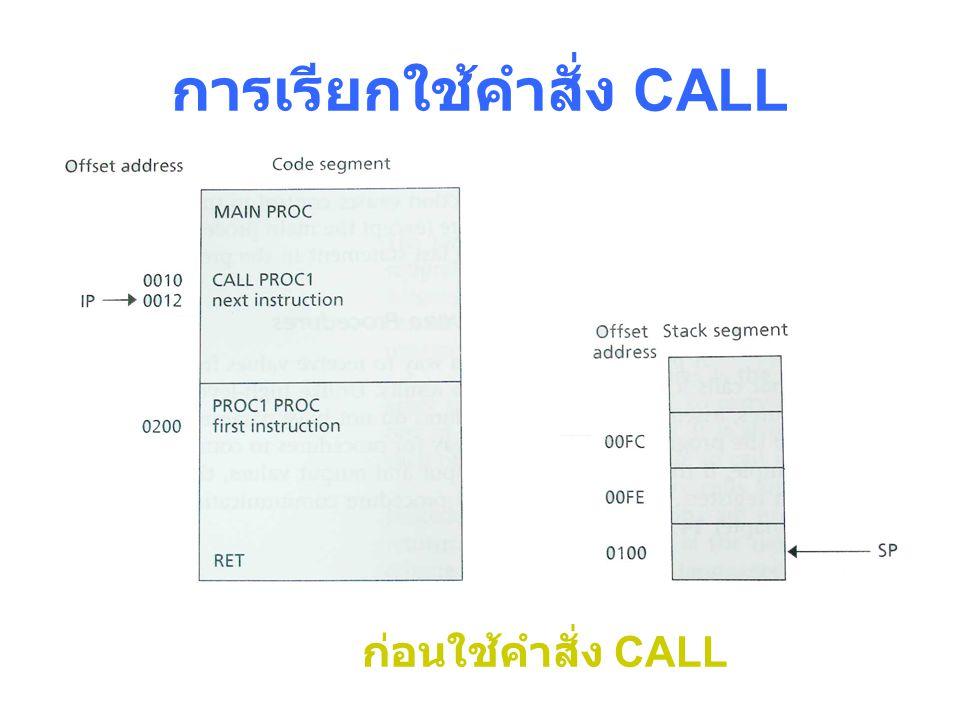 การเรียกใช้คำสั่ง CALL
