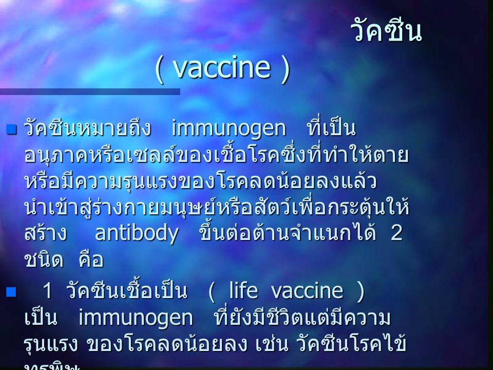 วัคซีน ( vaccine )