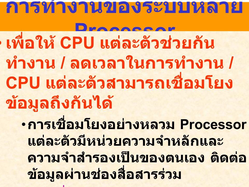 การทำงานของระบบหลาย Processor