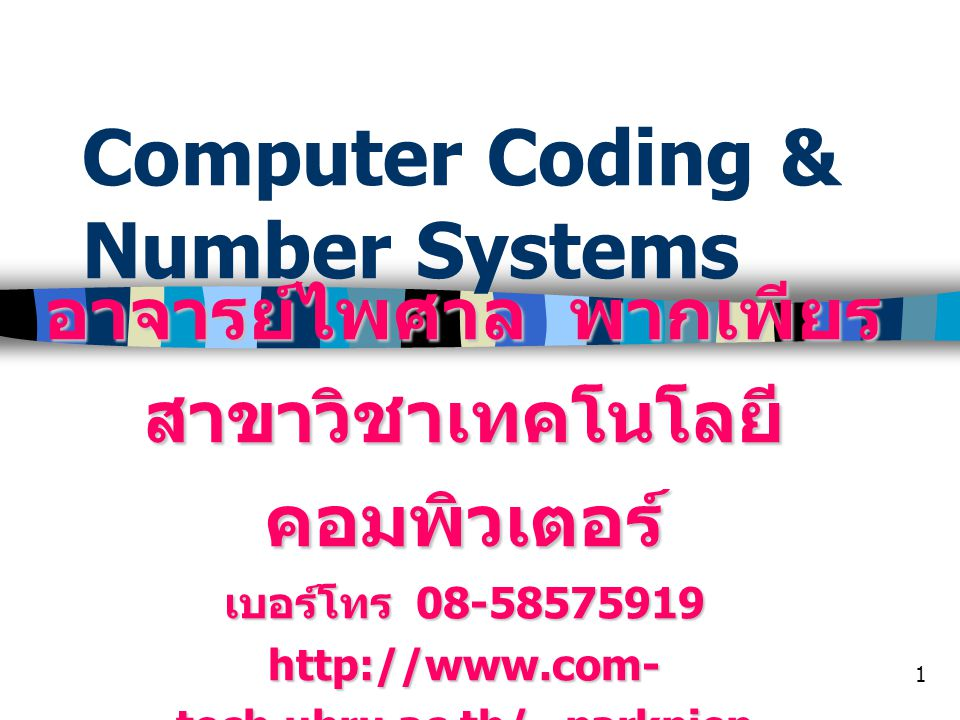 Computer Coding & Number Systems
