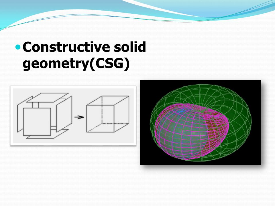 Constructive solid geometry(CSG)